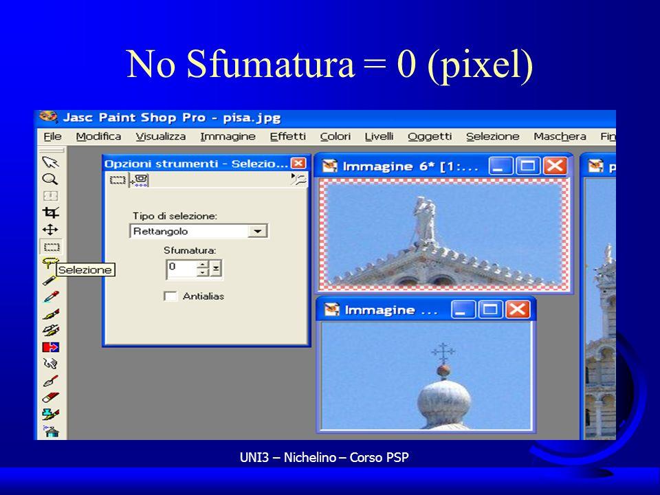 UNI3 – Nichelino – Corso PSP No Sfumatura = 0 (pixel)