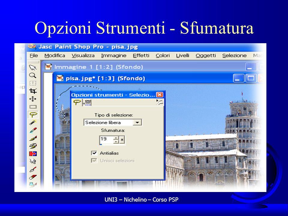 UNI3 – Nichelino – Corso PSP Opzioni Strumenti - Sfumatura