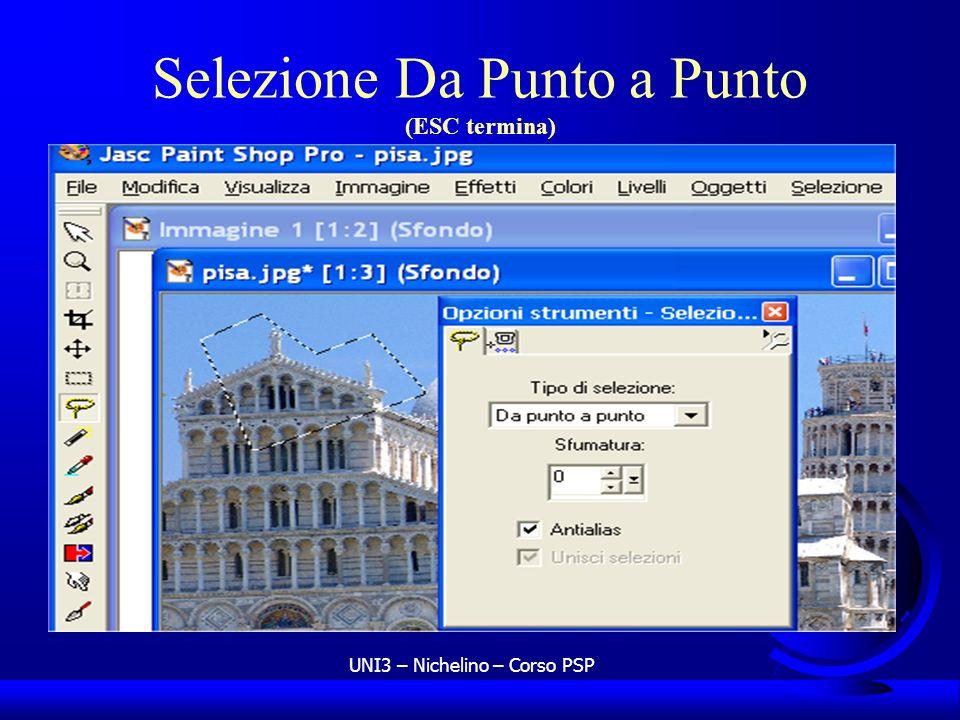 UNI3 – Nichelino – Corso PSP Selezione Da Punto a Punto (ESC termina)