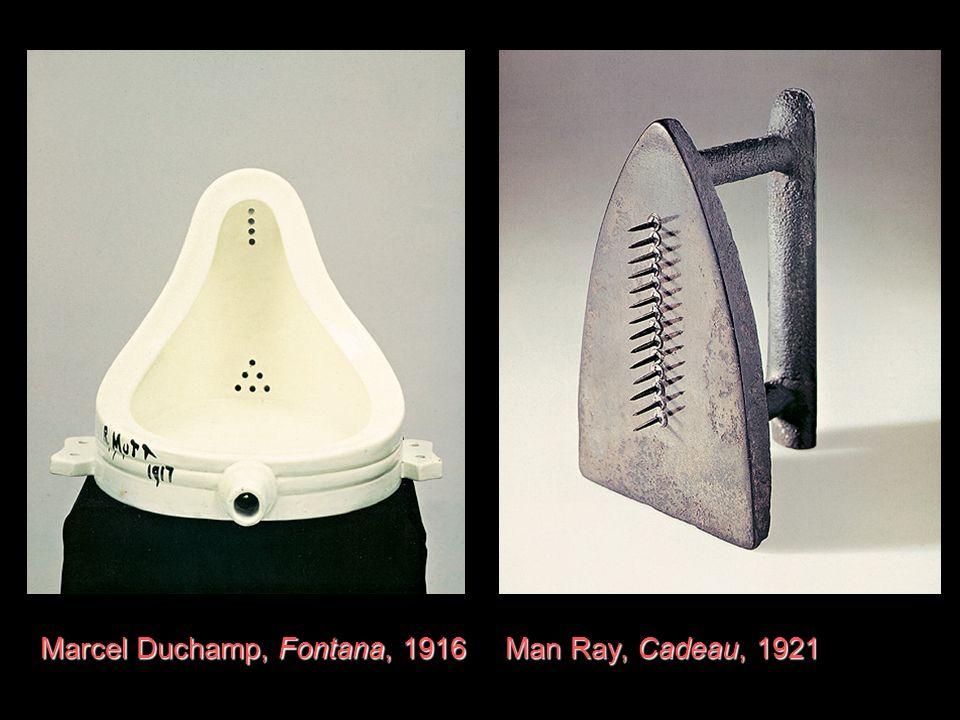 Marcel Duchamp, Fontana, 1916 Man Ray, Cadeau, 1921