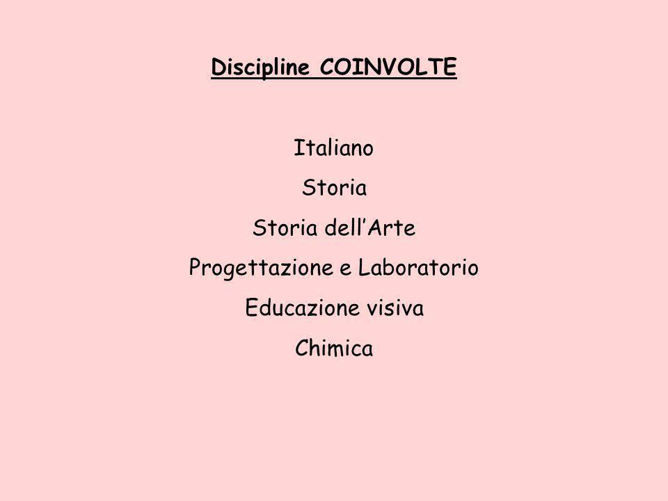 Discipline COINVOLTE Italiano Storia Storia dellArte Progettazione e Laboratorio Educazione visiva Chimica