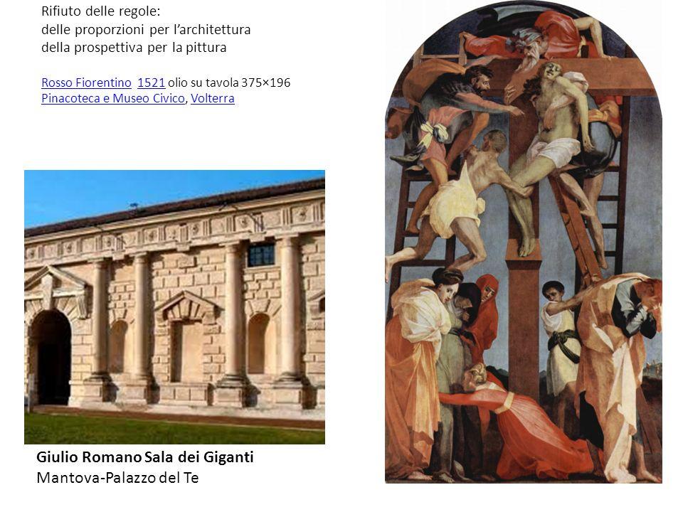 Rifiuto delle regole: delle proporzioni per larchitettura della prospettiva per la pittura Rosso Fiorentino 1521 olio su tavola 375×196 Pinacoteca e M