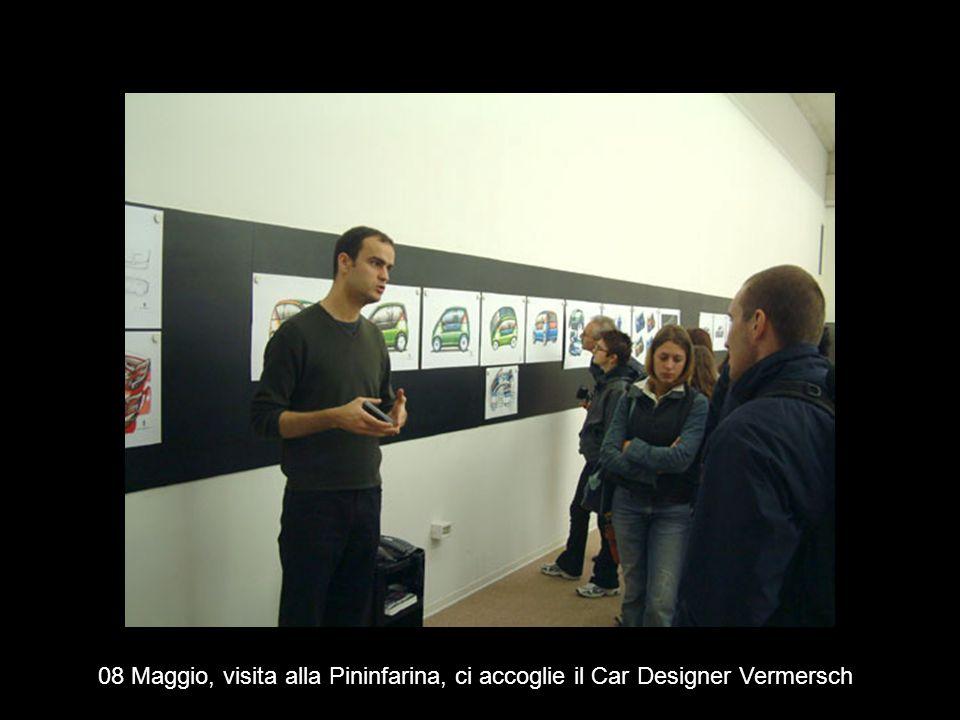 08 Maggio, visita alla Pininfarina, ci accoglie il Car Designer Vermersch