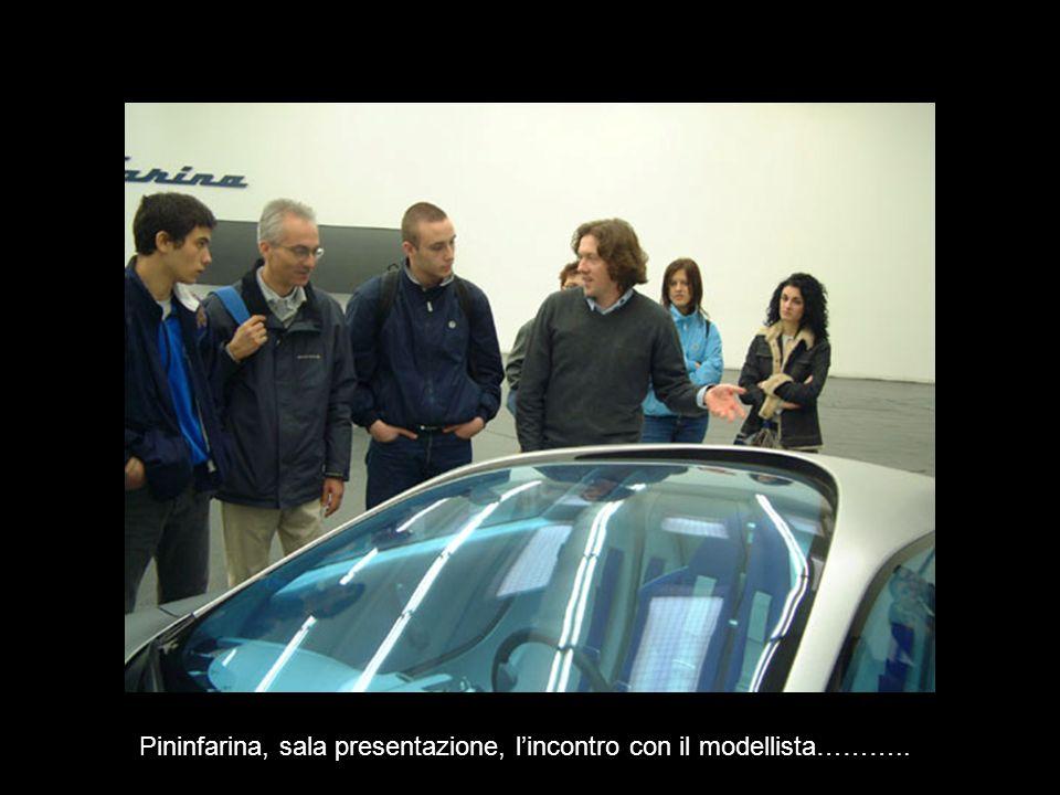 Pininfarina, sala presentazione, lincontro con il modellista………..