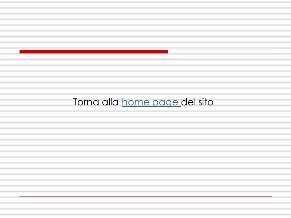 Torna alla home page del sitohome page