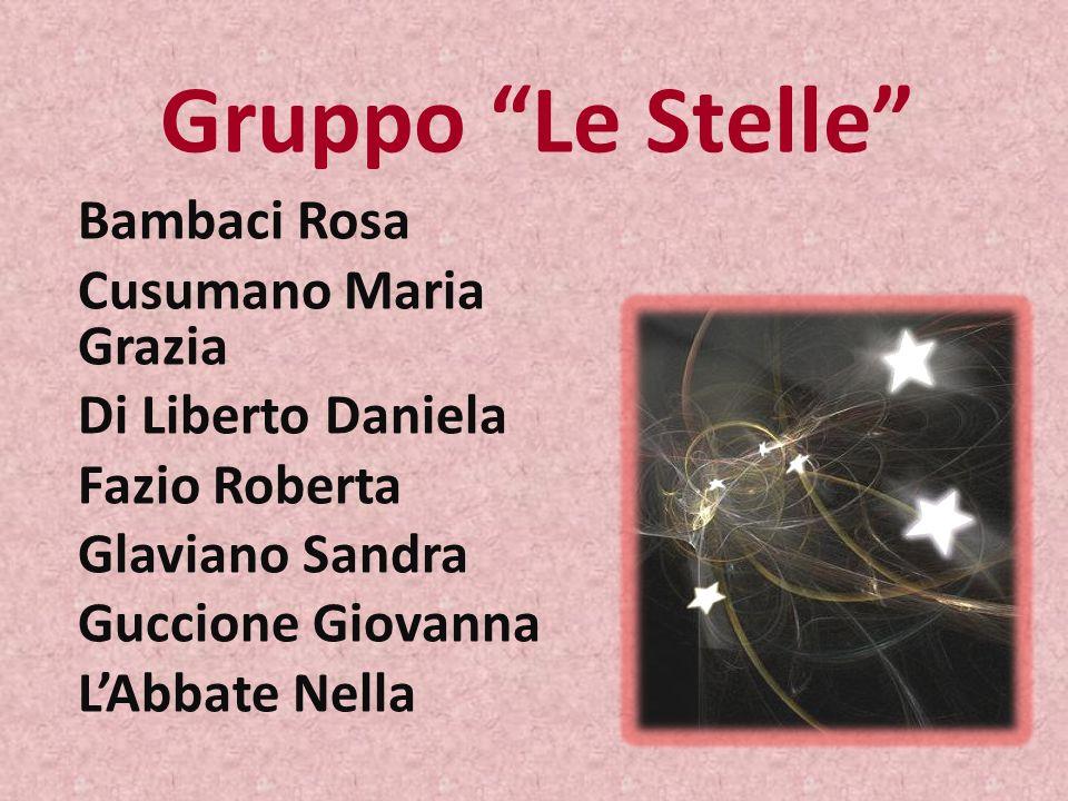 Gruppo Le Stelle Bambaci Rosa Cusumano Maria Grazia Di Liberto Daniela Fazio Roberta Glaviano Sandra Guccione Giovanna LAbbate Nella