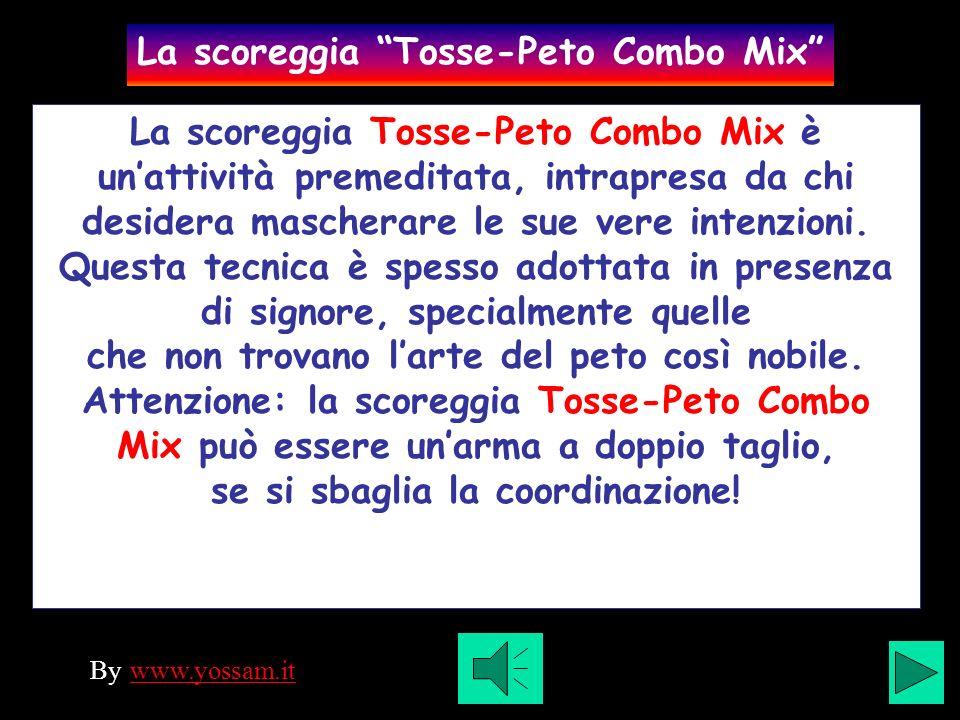 La scoreggia Tosse-Peto Combo Mix è unattività premeditata, intrapresa da chi desidera mascherare le sue vere intenzioni.