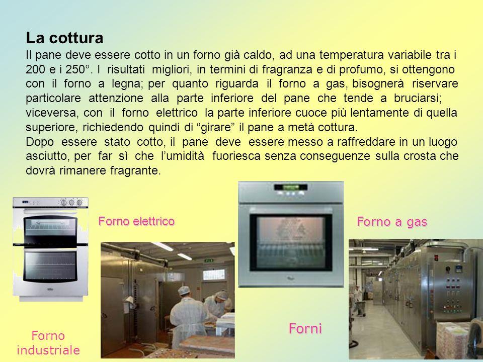 La cottura Il pane deve essere cotto in un forno già caldo, ad una temperatura variabile tra i 200 e i 250°. I risultati migliori, in termini di fragr