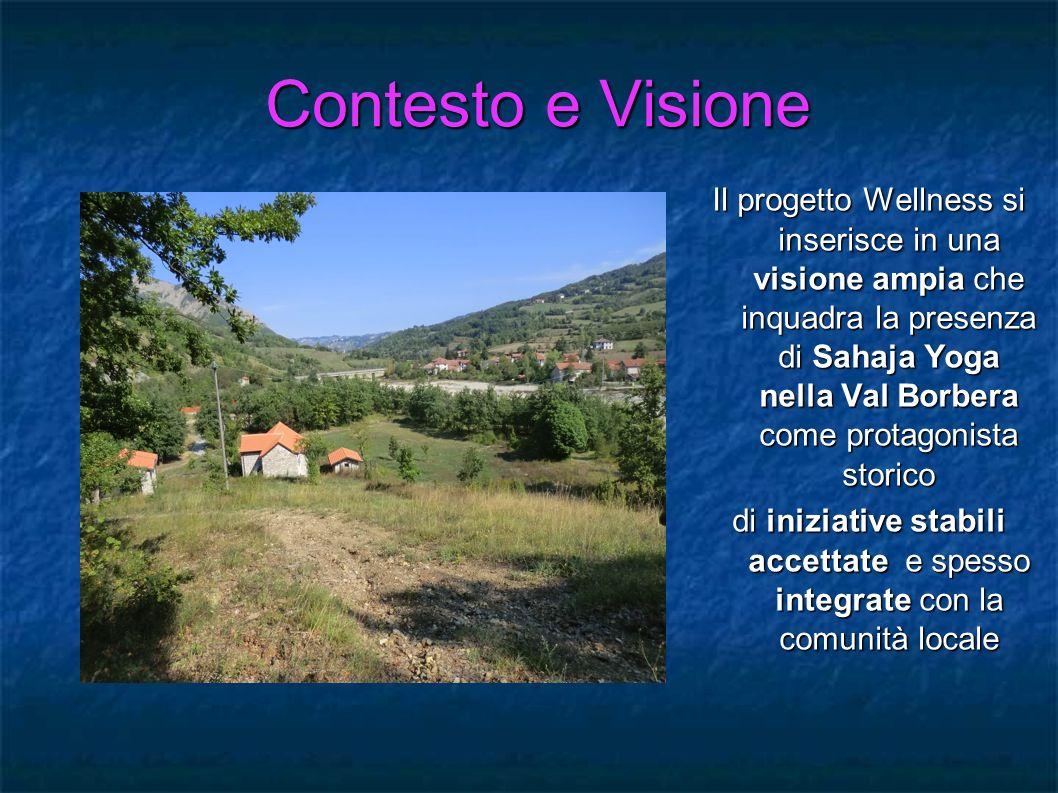 Contesto e Visione Il progetto Wellness si inserisce in una visione ampia che inquadra la presenza di Sahaja Yoga nella Val Borbera come protagonista