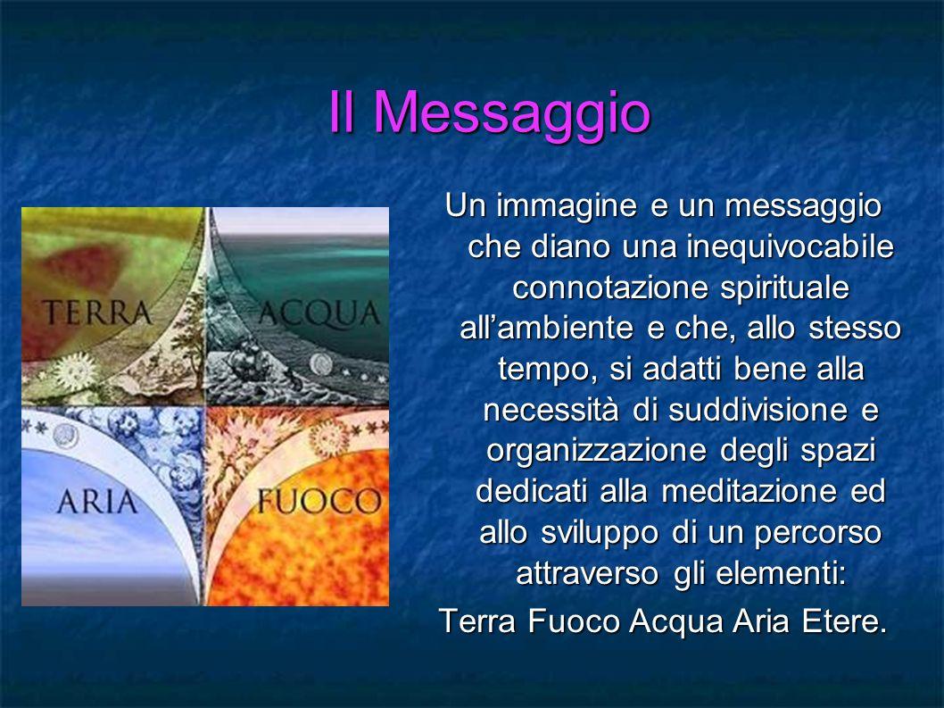 Il Messaggio Un immagine e un messaggio che diano una inequivocabile connotazione spirituale allambiente e che, allo stesso tempo, si adatti bene alla