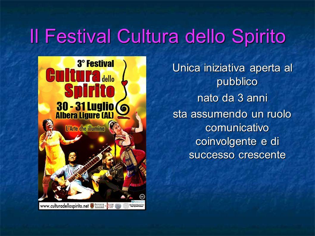 Il Festival Cultura dello Spirito Unica iniziativa aperta al pubblico nato da 3 anni sta assumendo un ruolo comunicativo coinvolgente e di successo cr