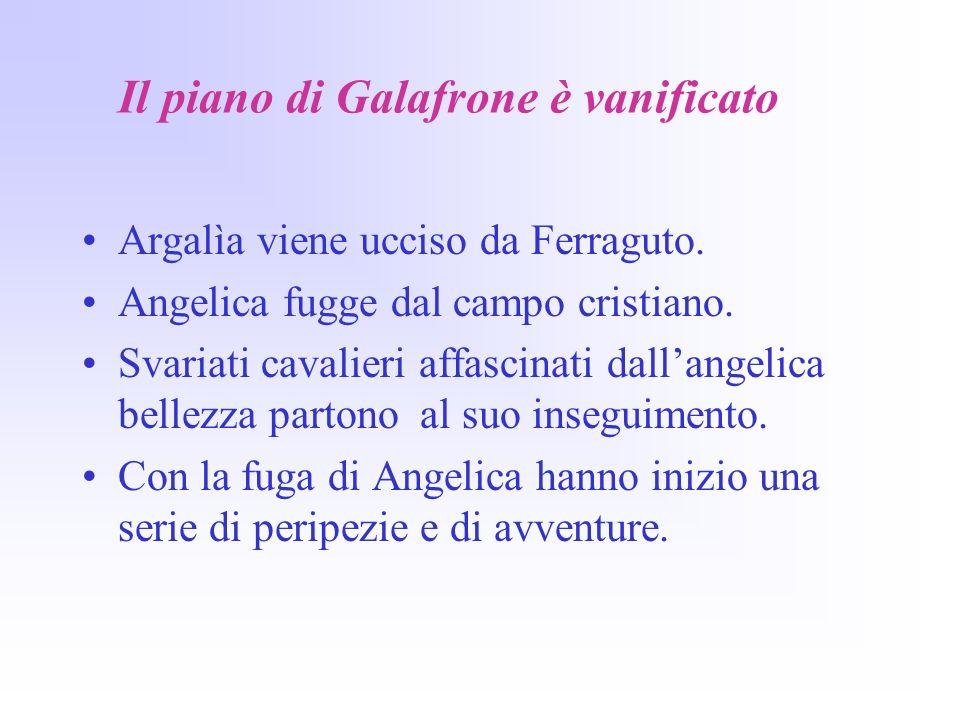 Il piano di Galafrone è vanificato Argalìa viene ucciso da Ferraguto.