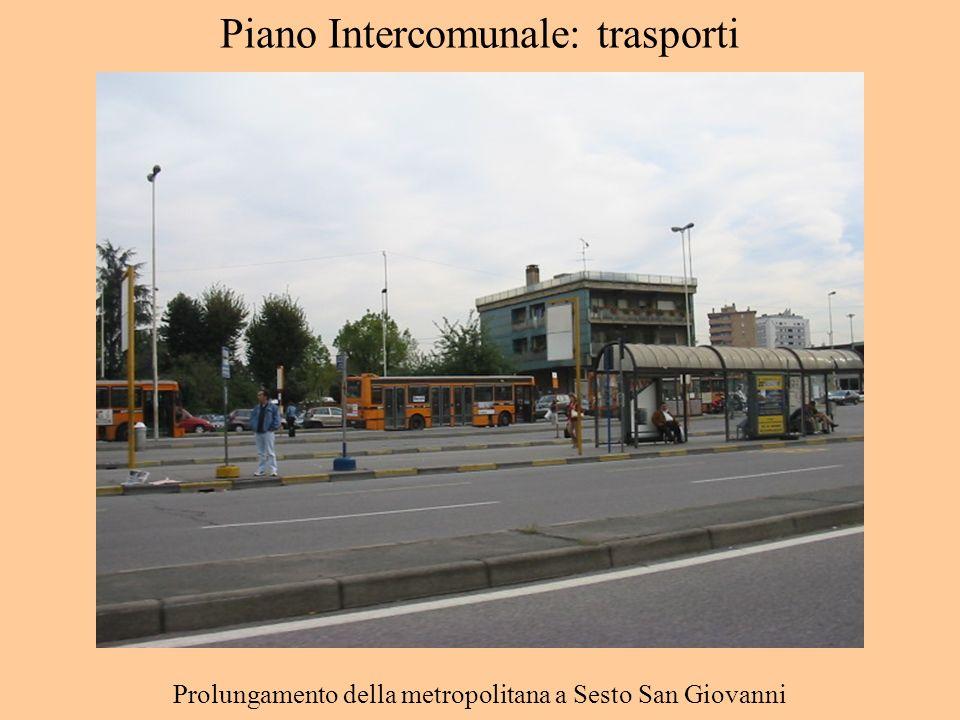 Piano Intercomunale: trasporti Prolungamento della metropolitana a Sesto San Giovanni