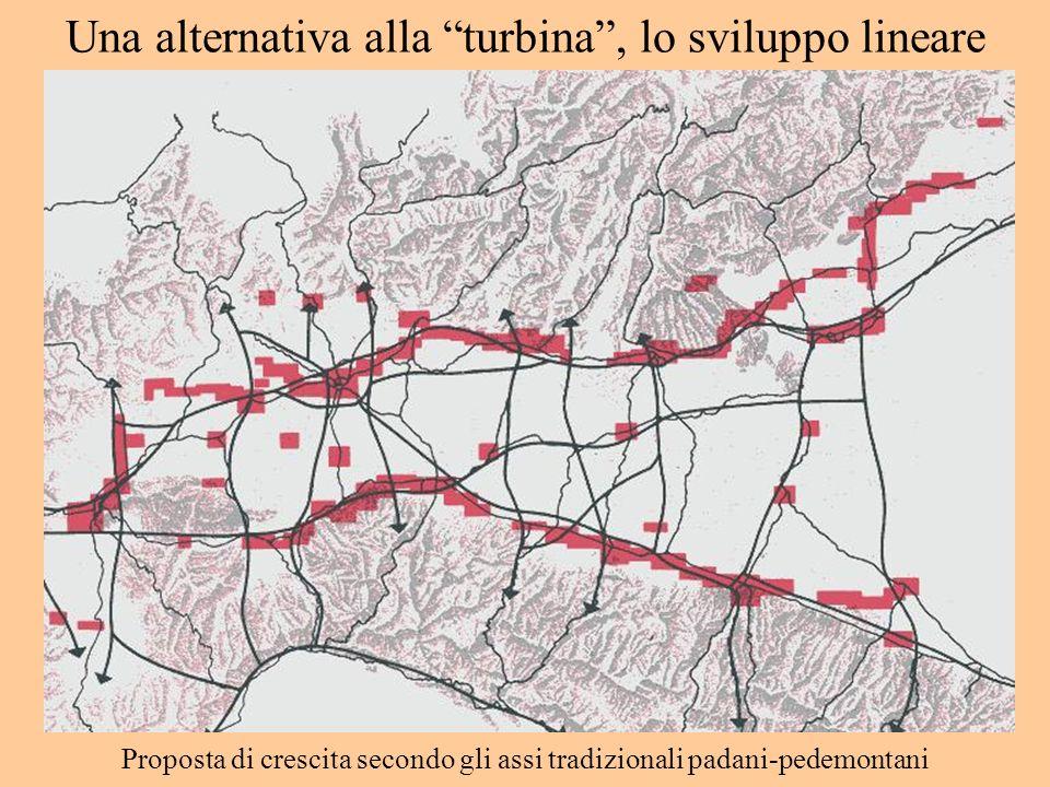 Una alternativa alla turbina, lo sviluppo lineare Proposta di crescita secondo gli assi tradizionali padani-pedemontani