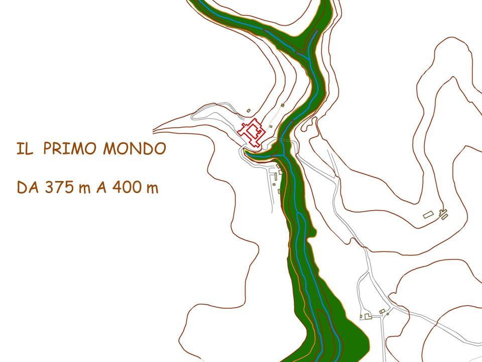 IL PRIMO MONDO DA 375 m A 400 m