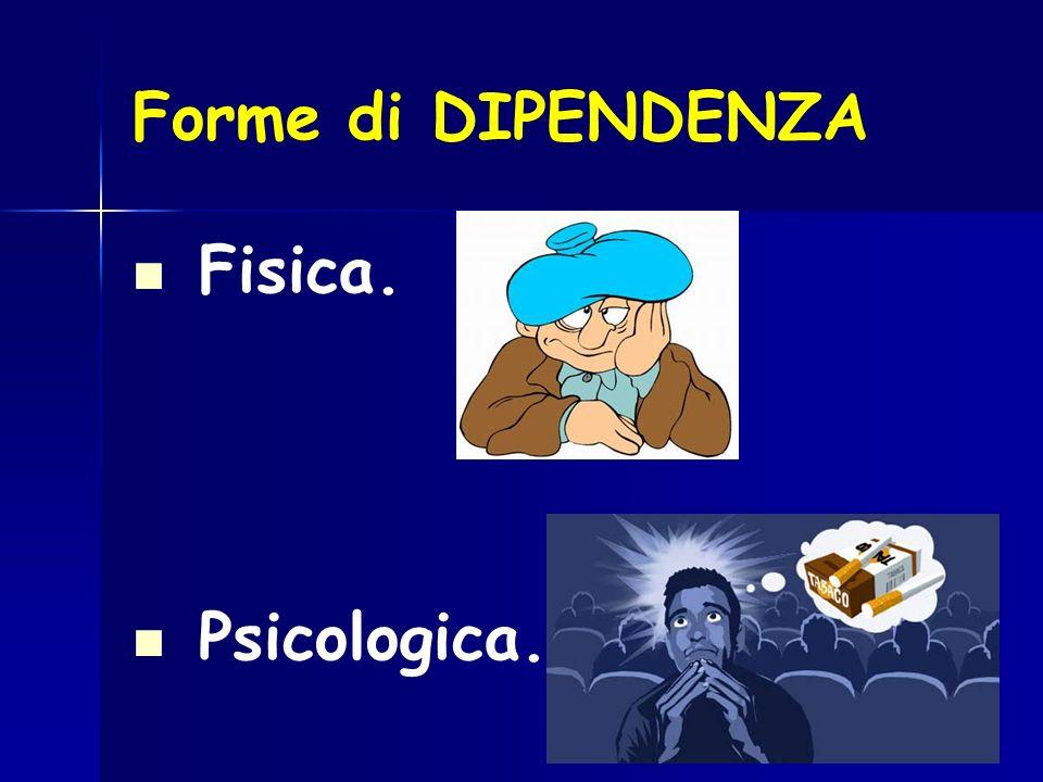 Forme di DIPENDENZA Fisica. Psicologica.