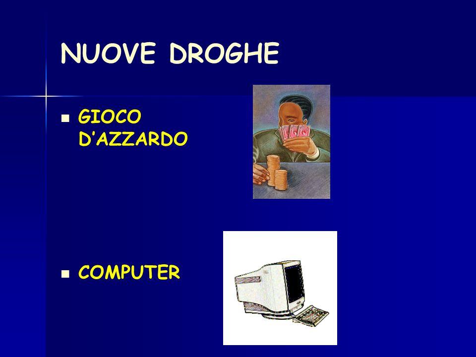 NUOVE DROGHE GIOCO DAZZARDO COMPUTER
