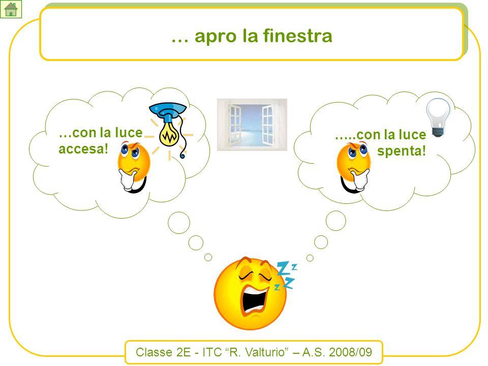 Classe 2E - ITC R. Valturio – A.S. 2008/09 …con la luce accesa! …..con la luce spenta! … apro la finestra