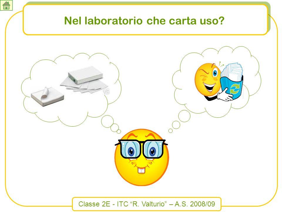 Classe 2E - ITC R. Valturio – A.S. 2008/09 Nel laboratorio che carta uso?