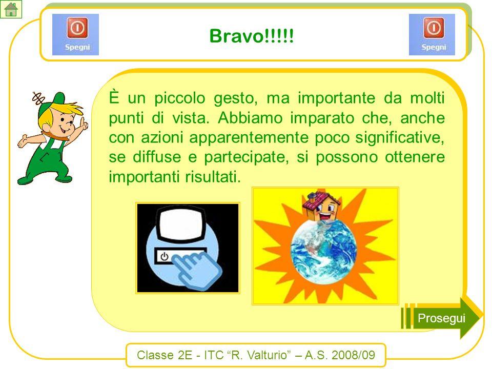 Classe 2E - ITC R. Valturio – A.S. 2008/09 Bravo!!!!! È un piccolo gesto, ma importante da molti punti di vista. Abbiamo imparato che, anche con azion