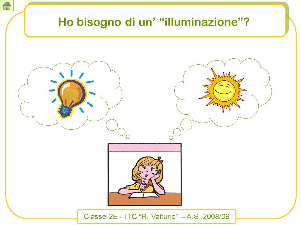 Classe 2E - ITC R. Valturio – A.S. 2008/09 Ho bisogno di un illuminazione?