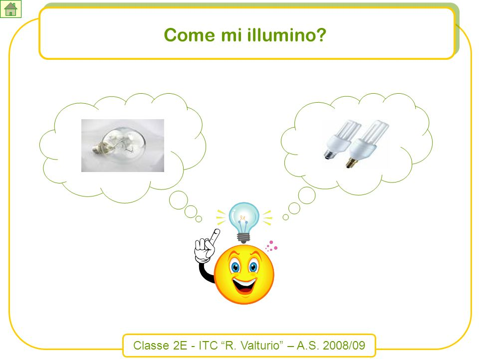 Classe 2E - ITC R. Valturio – A.S. 2008/09 Come mi illumino?