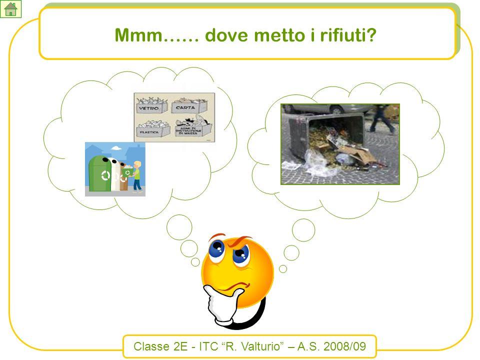 Classe 2E - ITC R. Valturio – A.S. 2008/09 Mmm…… dove metto i rifiuti?