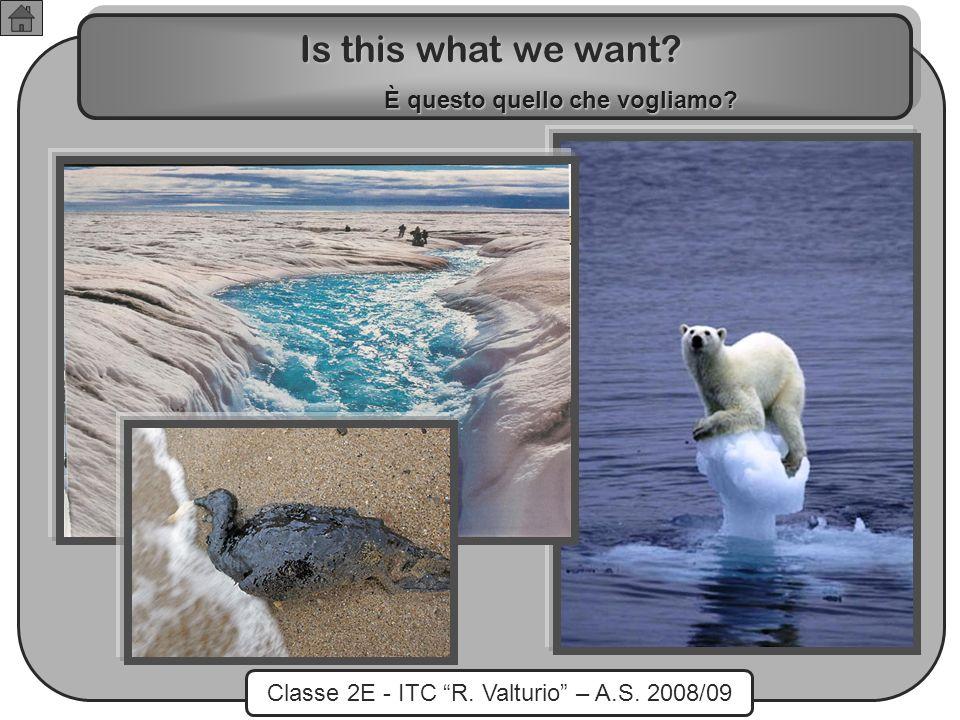 Classe 2E - ITC R. Valturio – A.S. 2008/09 Is this what we want? È questo quello che vogliamo?