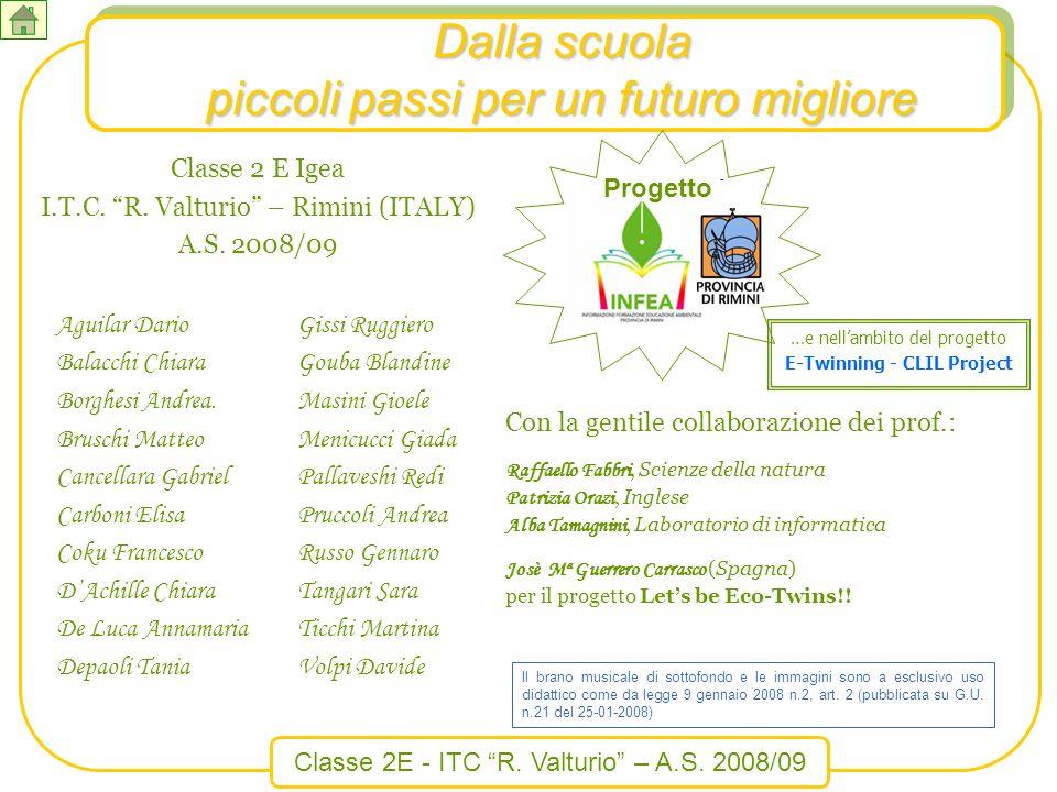 Classe 2E - ITC R. Valturio – A.S. 2008/09 …e nellambito del progetto E-Twinning - CLIL Project Con la gentile collaborazione dei prof.: Raffaello Fab