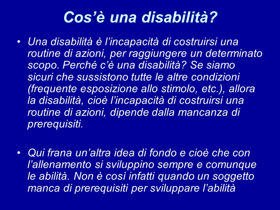 Cosè una disabilità.