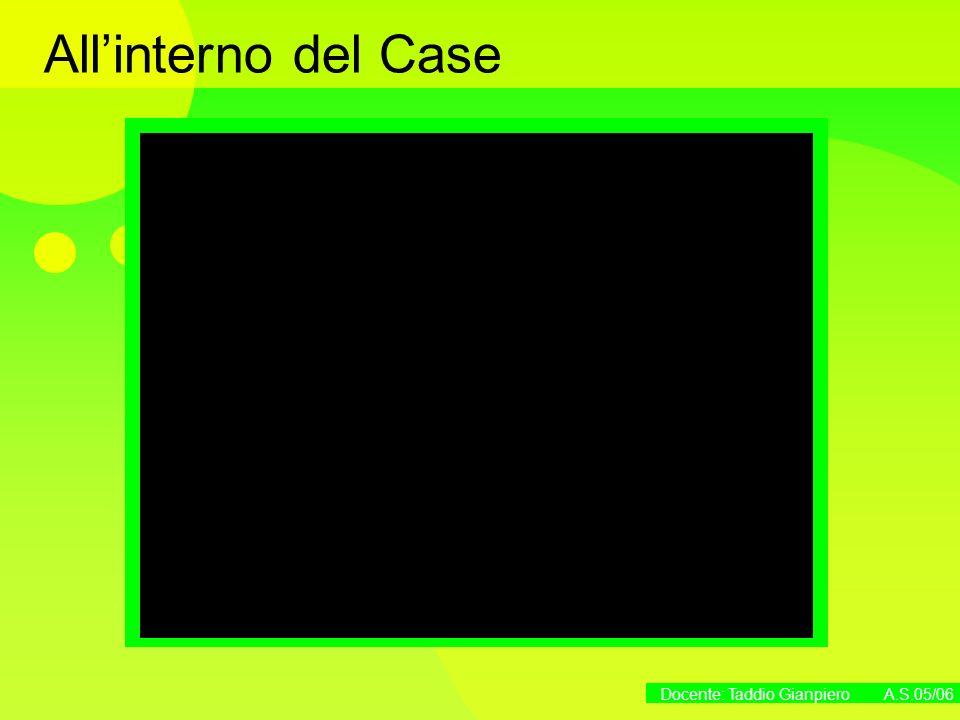 Docente: Taddio Gianpiero A.S.05/06 Allinterno del Case
