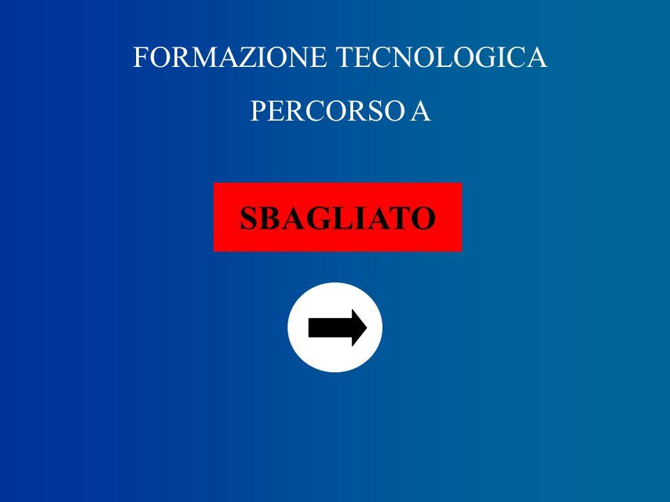 FORMAZIONE TECNOLOGICA PERCORSO A D SBAGLIATO D