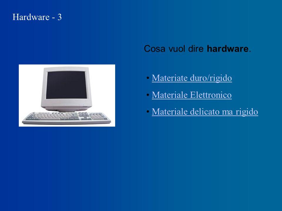 Hardware - 3 Cosa vuol dire hardware.