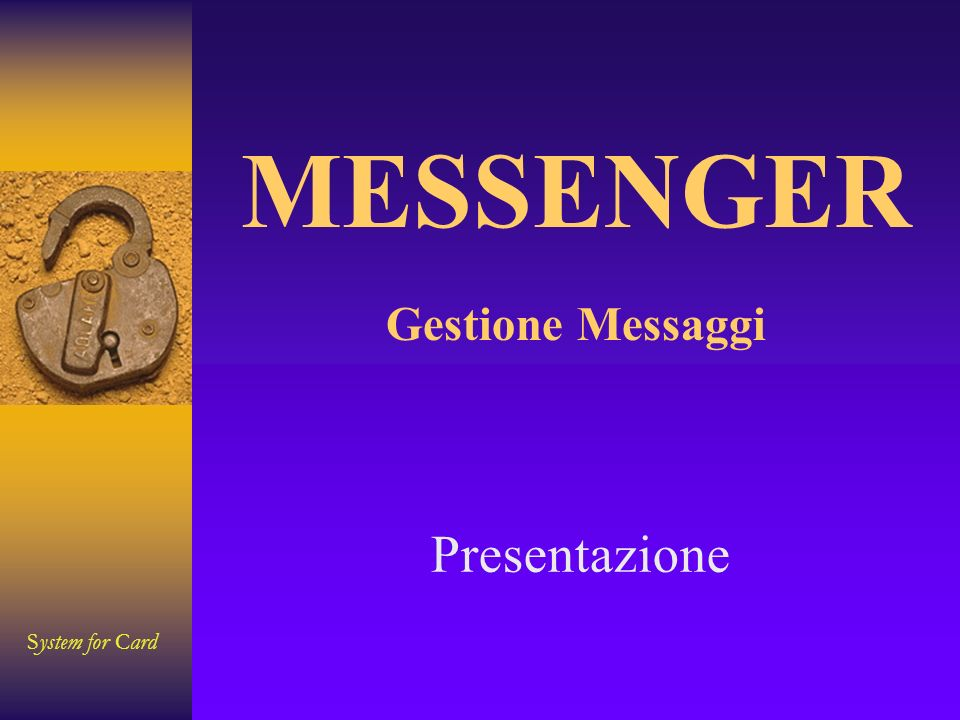 System for Card Fine MESSENGER Gestione Messaggi