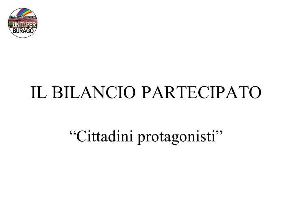 IL BILANCIO PARTECIPATO Cittadini protagonisti