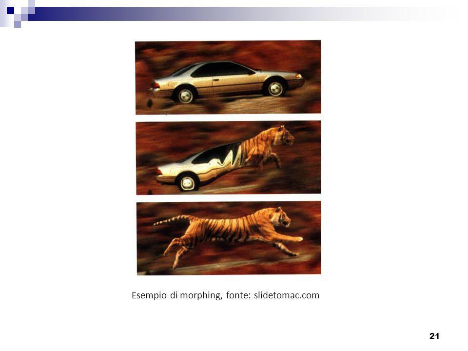 21 Esempio di morphing, fonte: slidetomac.com