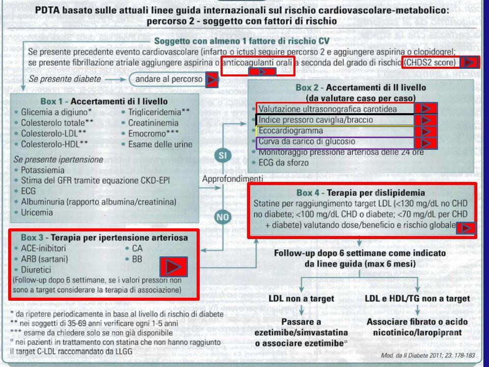 DIAGNOSI Interventi stile di vita Metformina Metformina + Insulina basale Metformina + Glitazone Metformina + Sulfanilurea o glinide Metformina + Inibitore DPP- IV Metformina + analogo/Agonis ta GLP1 Soggetti sovrappeso.