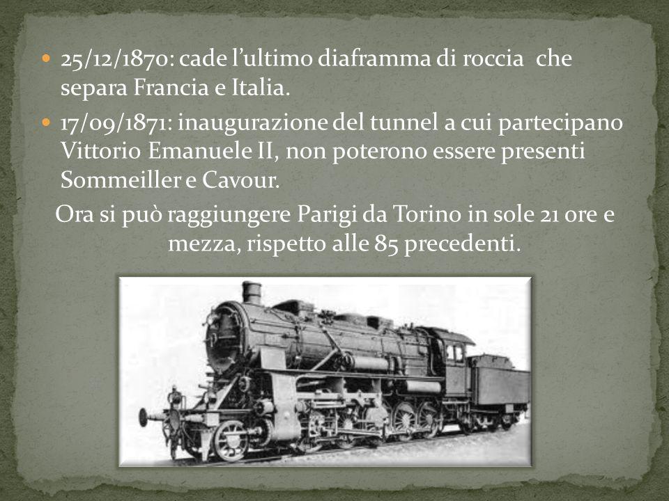 25/12/1870: cade lultimo diaframma di roccia che separa Francia e Italia.
