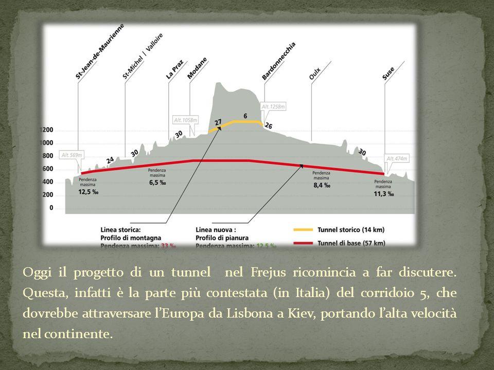 Oggi il progetto di un tunnel nel Frejus ricomincia a far discutere.