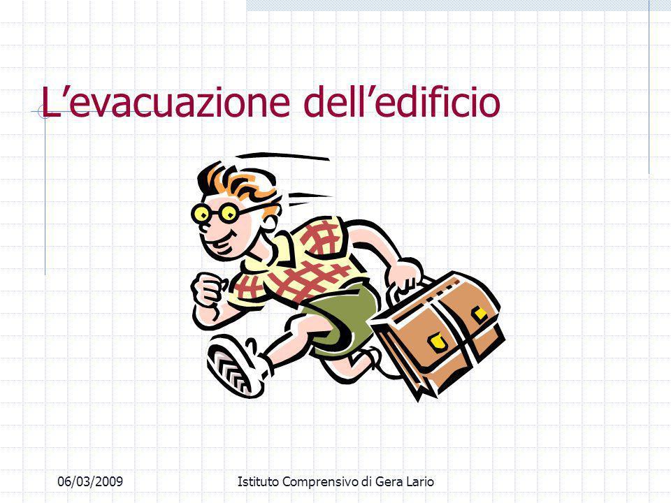 06/03/2009Istituto Comprensivo di Gera Lario Levacuazione delledificio