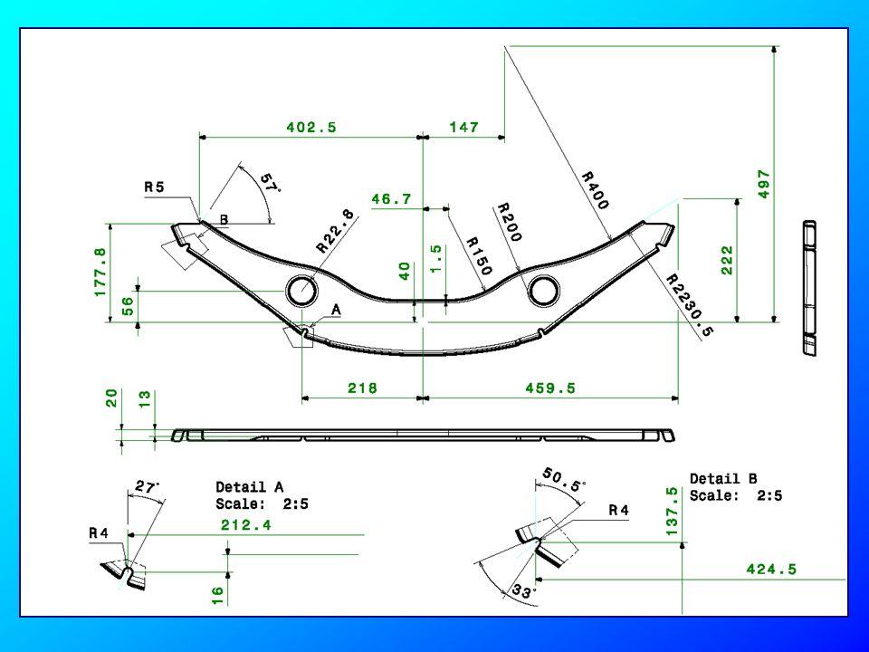 La superficie superiore deve essere sagomata usando la superficie estrusa dallo Sketch.2 diapositiva n° 12 A questo punto si può creare i fillet di raggio 5.5mm tra la superficie di fondo e le superfici inferiori.