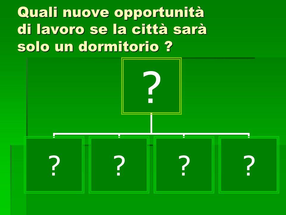 Quali nuove opportunità di lavoro se la città sarà solo un dormitorio ? ? ????