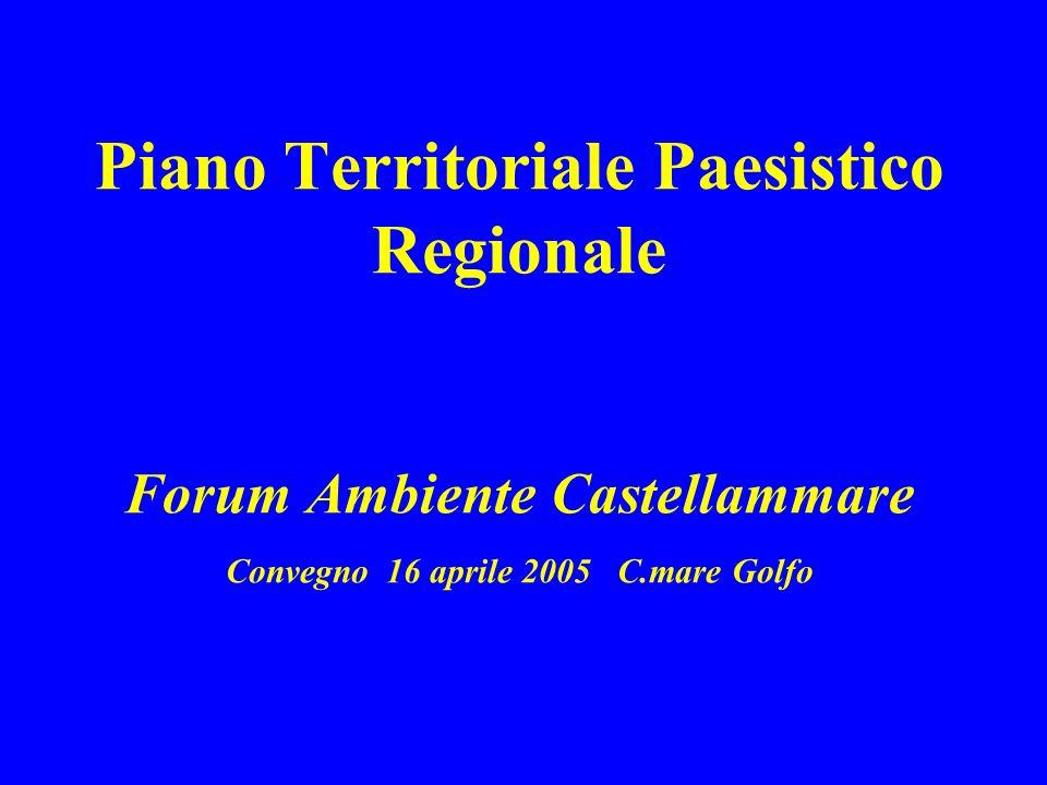 Piano Territoriale Paesistico Regionale Forum Ambiente Castellammare Convegno 16 aprile 2005 C.mare Golfo