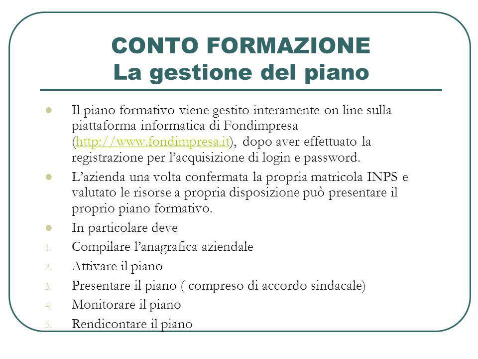 ATTIVAZIONE DEL PIANO Titolo del piano Indicazione del referente di piano Indicazione della tipologia di piano (piano ordinario, piano con ammortizzatori, piano ordinario con contributo aggiuntivo)