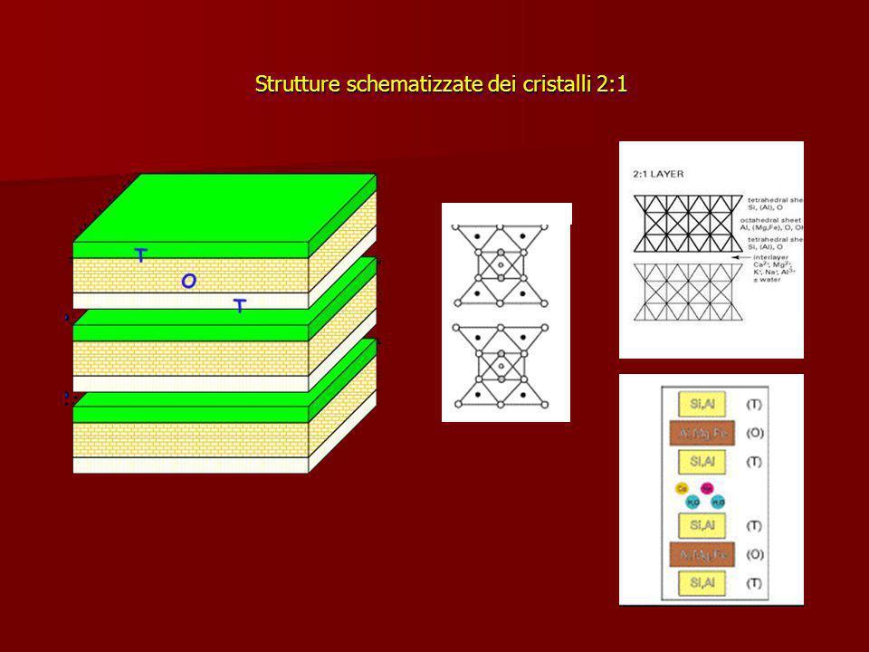 Strutture schematizzate dei cristalli 2:1