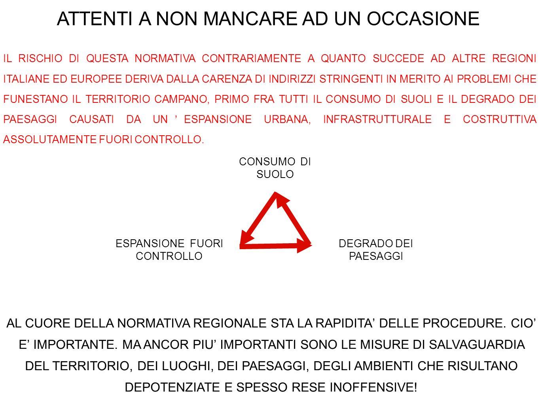 ATTENTI A NON MANCARE AD UN OCCASIONE IL RISCHIO DI QUESTA NORMATIVA CONTRARIAMENTE A QUANTO SUCCEDE AD ALTRE REGIONI ITALIANE ED EUROPEE DERIVA DALLA