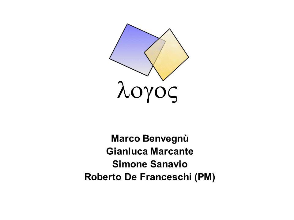 Generalità Codice progettoLOGOS2003 Titolo progettoLogos Project ManagerRoberto De Franceschi Cliente finaleRasotto s.n.c.