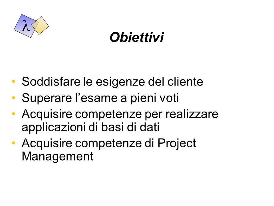 Risultati Sistema informatico Documentazione del sistema informatico Manuale utente Presentazione al docente Presentazione di Project Management