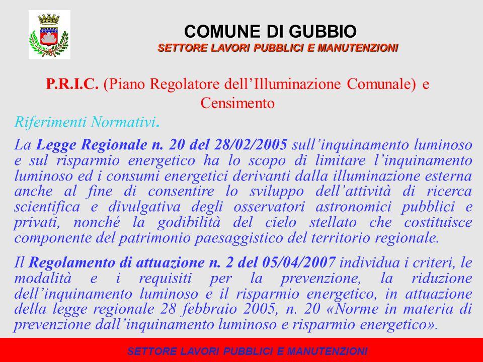 I dati ottenuti stanno permettendo al Comune di Gubbio di pianificare e ottimizzare la manutenzione e il rifacimento della pubblica illuminazione, determinando una valutazione più completa e chiara degli interventi da eseguire.