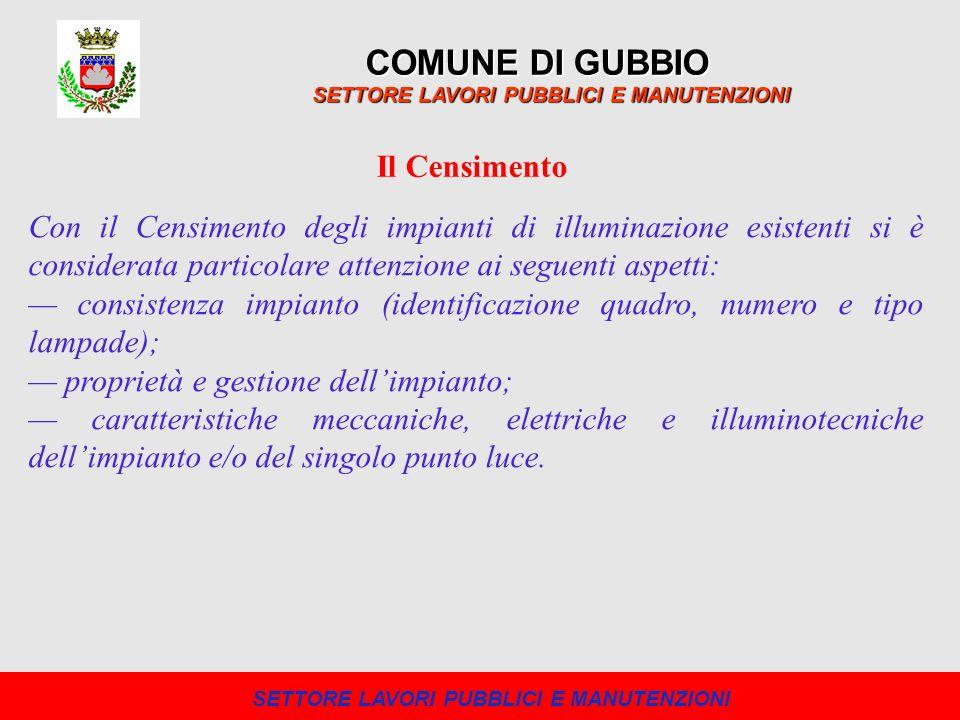 Nellallegato 5 al PRIC sono riportati i report complessivi del Comune di Gubbio.